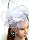 Women\'s Feather / Tulle / Chiffon Headpiece-Wedding / Special Occasion Fascinators 1 Piece
