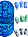 1pcs design de mode vente chaude plaque d\'estampage nail art colore fleur papillon belle pochoirs manucure design STZ-01-10