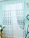 Un Panou Tratamentul fereastră Neoclasic European Sufragerie Poliester Material Sheer Perdele Shades Pagina de decorare For Fereastră
