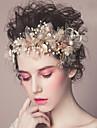 Perle Diadema-Nuntă Ocazie specială Informal Exterior Cordeluțe Flori Clipuri de Păr Păr Stick Εργαλείο μαλλιών Στεφάνια 1 Bucată