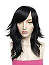 Perruque cosplay synthetique fibre noir top qualite costume femme mode perruque coiffure