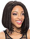Femme Perruque Synthetique Lace Front Court Brun Noir Violet Noir / Medium Auburn Noir / Auburn Ligne de Cheveux Naturelle Partie