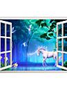 Animale Desene Animate #D Perete Postituri Autocolante perete plane 3D Acțibilduri de Perete Autocolante de Perete Decorative,Vinil