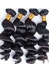 4 pcs / lot Livraison gratuite reine vierge non traitee cheveu humain bresilien, bresilien vague lache cheveux vierges