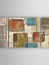 Peint a la main Abstrait Horizontale,Moderne Trois Panneaux Toile Peinture a l\'huile Hang-peint For Decoration d\'interieur
