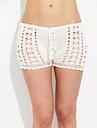 Femei O Piesă / Pantaloni Scurți Femei Cu Susținere Solid / Plasă O - piesă Bumbac / Polyester