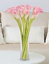 5 Une succursale Polyurethane Calla Lily Fleur de Table Fleurs artificielles