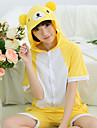kigurumi Pyjamas Ours Collant/Combinaison Fete / Celebration Pyjamas Animale Halloween Jaune Mosaique Kigurumi Pour Unisexe Carnaval