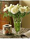 10 Pieces 10 Une succursale Soie Pivoines Fleur de Table Fleurs artificielles