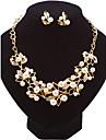 Seturi de bijuterii Cercei Stud Lănțișor La modă Euramerican Perle Aliaj Leaf Shape PentruNuntă Petrecere Ocazie specială Zi de Naștere