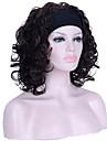 Femme Perruque Synthetique Sans bonnet Mi Longue Frises Chatain Perruque Halloween Perruque de carnaval Perruque Naturelle Perruque