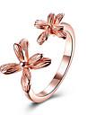 Pentru femei manşetă Ring Floral Plastic Placat cu platină Placat Cu Aur Roz Bijuterii Pentru Petrecere Zi de Naștere Zilnic