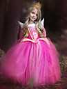Costumes de Cosplay Princesse Fete / Celebration Deguisement d\'Halloween Rouge Rose Paillettes scintillantes Dentelle RobeNoel Le Jour