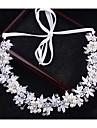Cristal Imitație de Perle Diadema-Nuntă Ocazie specială Exterior Cordeluțe Lănțișor de cap Εργαλείο μαλλιών 1 Bucată