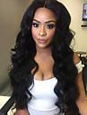 Femme Perruque Synthetique Lace Front Long Ondulation naturelle Noir Ligne de Cheveux Naturelle Au Milieu Perruque Naturelle Perruque