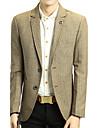 Bărbați În V Blazer Casul/Zilnic Muncă Vintage Simplu(ă),Dungi Primăvară toamnă-Regular Bumbac Acrilic