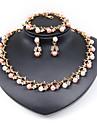 Seturi de bijuterii La modă Adorabil Euramerican Imitație de Perle Round Shape Auriu 1 Colier 1 Pereche de Cercei 1 Brățară PentruNuntă