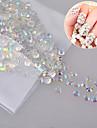 Nya 1000pcs / pack kristallklara gelé ab färg nail art harts rhinestones icke snabbkorrigering nagel konst dekorationer tillbehör