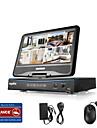 Sannce® 10,1 lcd 8ch 4 in 1 înregistrator video digital spports analog ahd tvi rețea 720p sistem de securitate fără hdd
