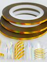 50pcs / box 2mm 20m fashion nail art laser gold glitter feuille striping tape line line rainbow sparkling diy beauty decoration