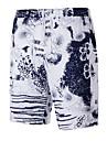 Bărbați Drept Simplu Activ Talie Inaltă,Inelastic Pantaloni Scurți Pantaloni Imprimeu