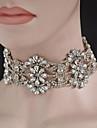 Pentru femei Coliere Choker Bijuterii Cross Shape Ștras Aliaj Design Circular Bijuterii Pentru Nuntă Petrecere Logodnă Zilnic 1 buc