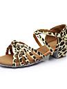 Chaussures de danse(Leopard) -Personnalisables-Talon Personnalise-Similicuir-Latines