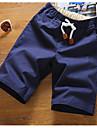 Bărbați Drept Simplu Talie Medie,Micro-elastic Pantaloni Scurți Pantaloni Mată