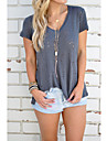 Europa 2017 noi AliExpress eBay de vânzare v-gât cu mânecă scurtă tricou gaura tricou personalitate