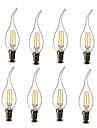 2W E14 Becuri LED Lumânare CA35 2 COB 200 lm Alb Cald Decorativ AC 220-240 V 8 piese