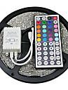 Z®zdm impermeable a l\'eau 5m 24w 300x2835rgb smd lumiere lampe a phare 44key ir kit de controleur a distance (dc12v)
