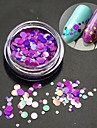 1bottle fashion romantique decoration ongle art rond tranche glitter paillette tranche design laser colore p14