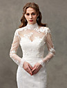 Women\'s Wrap Shrugs Lace Wedding Party/Evening Button Lace