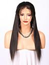 Topwigs 180% de densite naturelle cheveux humains droles glueless perruque en dentelle complete 100% doux cheveux vierges humains bruns