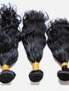 Tissages de cheveux humains Cheveux Peruviens Ondulation Naturelle 18 Mois 3 tissages de cheveux