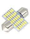 2x-feston-31mm-30-smd-3014-conduit blanc-voiture-dome-lampe-ampoules-3021-6428-de3175 12-24v