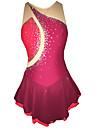 Robe de Patinage Femme Fille Sans Manches Patinage Jupes Robes Haute elasticite Robe de patinage artistique Haute elasticite Fait a la