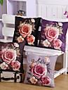 4 pcs Velours Housse de coussin Taie d\'oreiller,Fleur Nouveaute Decontracte Retro Traditionnel/Classique Euro
