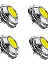2W G4 LED-spotlights 1 COB 180 lm Varmvit / Kallvit / Naturlig vit Dimbar DC 12 V 4 st