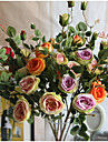 1 ramură Mătase Trandafiri Flori Podea Flori artificiale