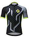 Mysenlan Maillot de Cyclisme Homme Manches Courtes Velo Maillot Sechage rapide Respirable Polyester Mode Ete