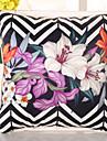 1 pcs Soie Housse de coussin Taie d\'oreiller,Fleur Nouveaute Raye Decontracte Retro Traditionnel/Classique Euro