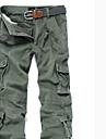 Bărbați Larg Șic Stradă Talie Inaltă,strenchy Pantaloni Chinos Pantaloni Mată