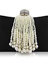 L.west femeie de moda de lux de înaltă calitate imitație perla geantă de buzunar