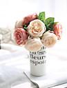 1 Gren Polyester Roser Bordsblomma Konstgjorda blommor
