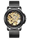 Bărbați Ceas Sport Ceas Schelet Ceas La Modă ceas mecanic Mecanism automat Calendar Rezistent la Apă Luminos Iluminat Oțel inoxidabil