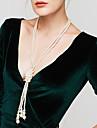 Pentru femei Toroane Coliere Colier lung, Κολιέ με Πέρλες Circle Shape Perle Imitație de Perle Elegant Multistratificat Bijuterii Pentru