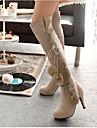 Femme Chaussures Laine synthetique Hiver Confort Bottes de neige Bottes Avec Pour Decontracte Noir Beige