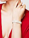 Pentru femei Brățară Bratari de tenis Ștras La modă de Mireasă bijuterii de lux Elegant Ștras Argilă Diamante Artificiale Square Shape