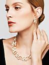 Pentru femei Seturi de bijuterii Cercei Picătură Κολιέ με Πέρλες La modă European de Mireasă Elegant Perle Ștras Aliaj Circle Shape